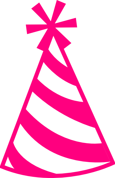 Pink Hat Clip Art At Clker Co - Birthday Hat Clip Art