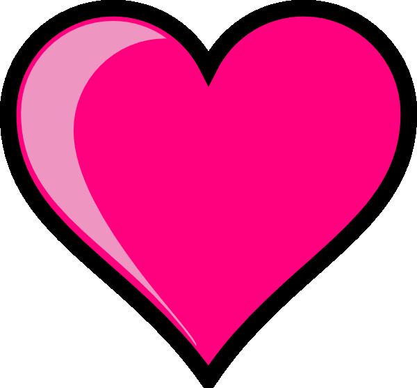 Pink Heart Clip Art - Vector Clip Art On-Pink Heart clip art - vector clip art online, royalty free-8