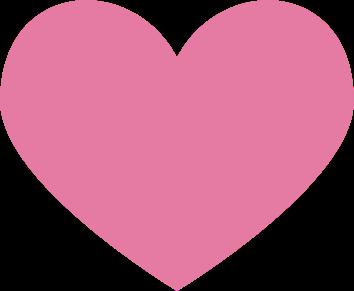 cute pink heart clipart