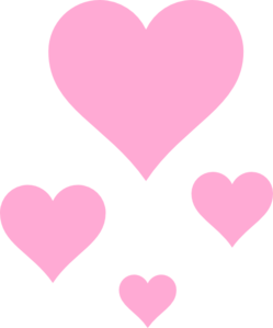 Pink Hearts Clip Art at .