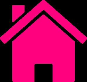 Pink house clip art at clker vector clip art