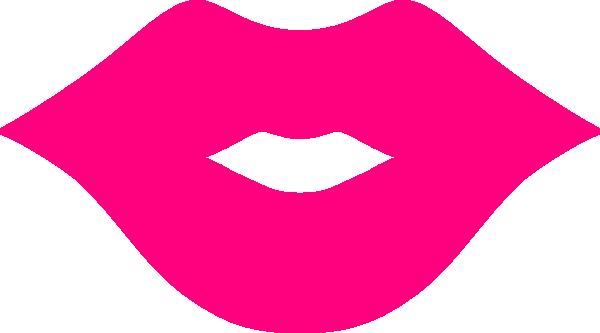 ... pink kissing lips clip art ...