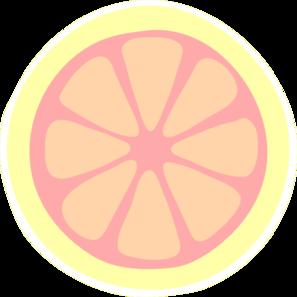 Pink Lemon Slice Clip Art At Clker Com Vector Clip Art Online
