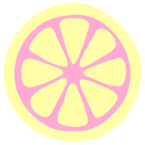 Pink Lemon Slice Clip Art - Lemon Slice Clip Art