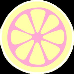 Pink Lemon Slice Clip Art - Lemon Slice Clip Art