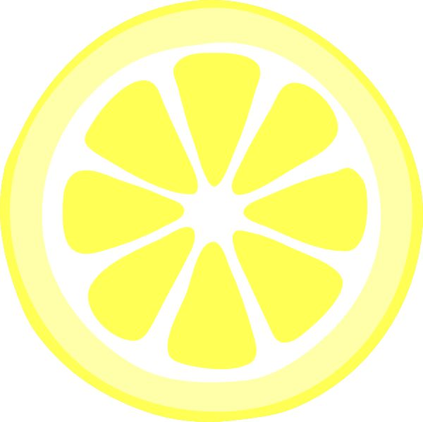 Pink lemon slice clip art vec - Lemon Slice Clip Art