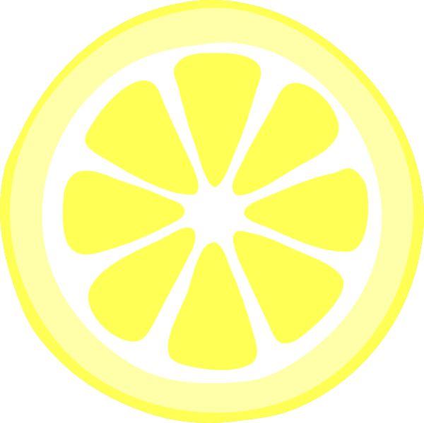 Pink lemon slice clip art vec - Lemon Slice Clip Art