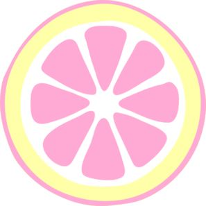 Pink Lemon Slice clip art - vector clip art online, royalty free u0026amp; public domain