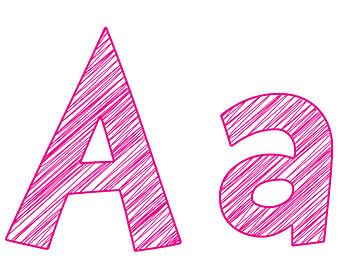 Pink Letter A Clipart #1 - Letter A Clip Art