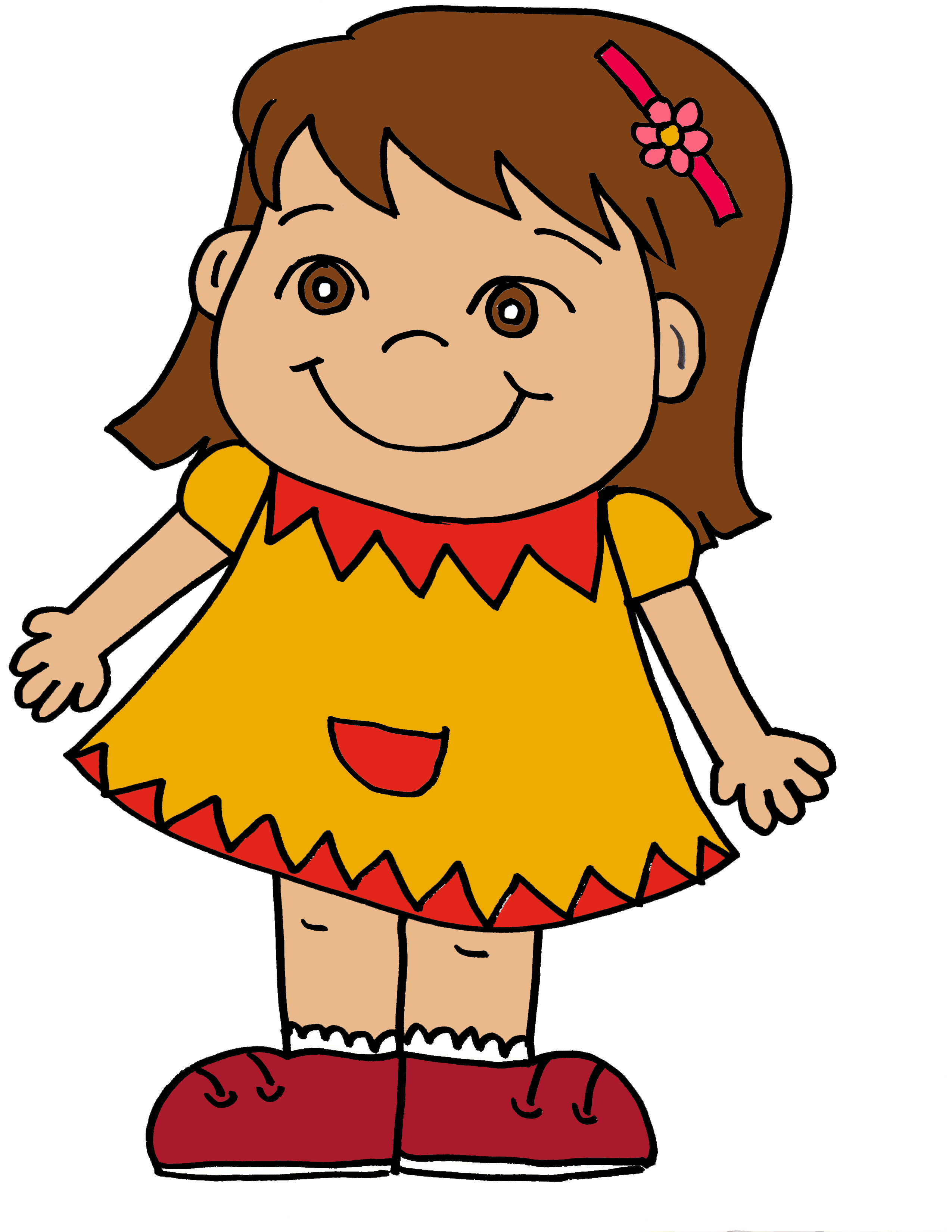 Clipart Of A Girl & Look At Of A Girl Clip Art Images - ClipartLook.com