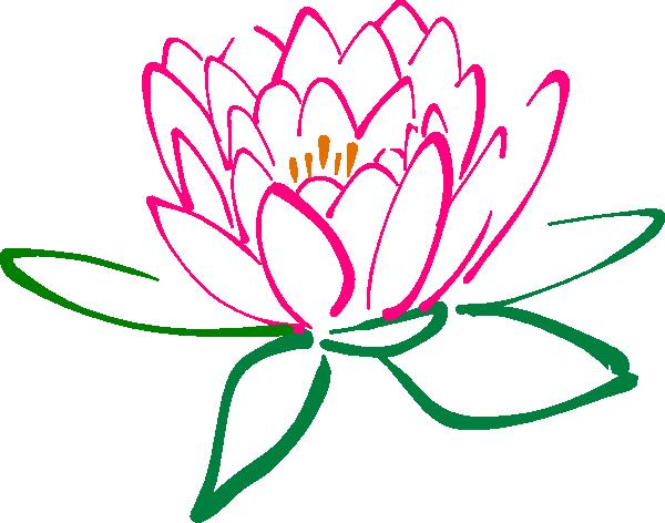 pink lotus flower clipart