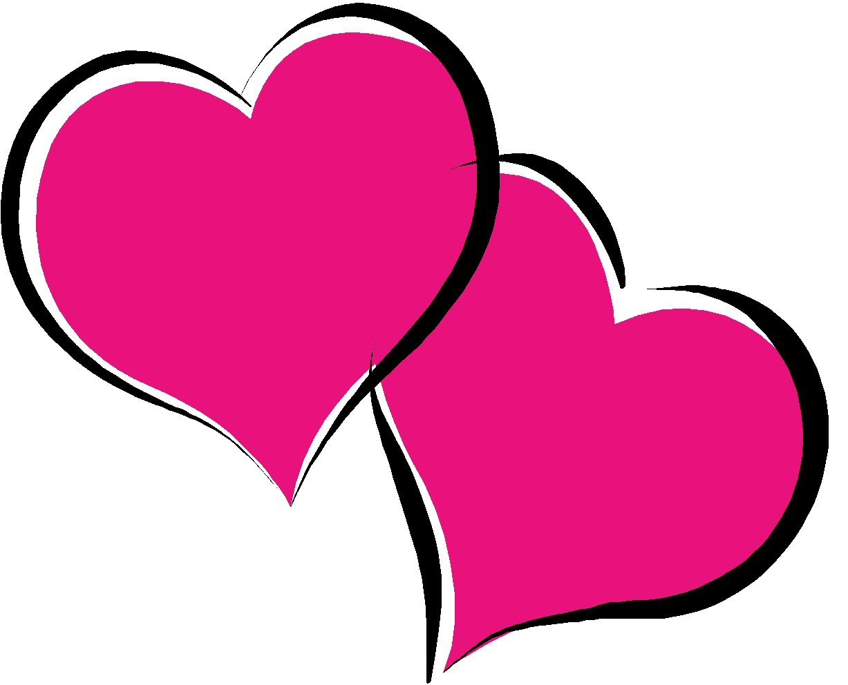 Pink love heart clipart - ClipartFest