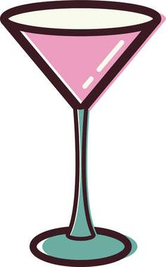 Pink Martini Glass Clipart - Free Clip Art Images