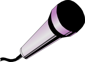 Pink microphone clipart