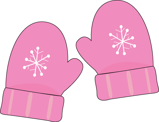 Pink Mittens Clip Art Pair Of