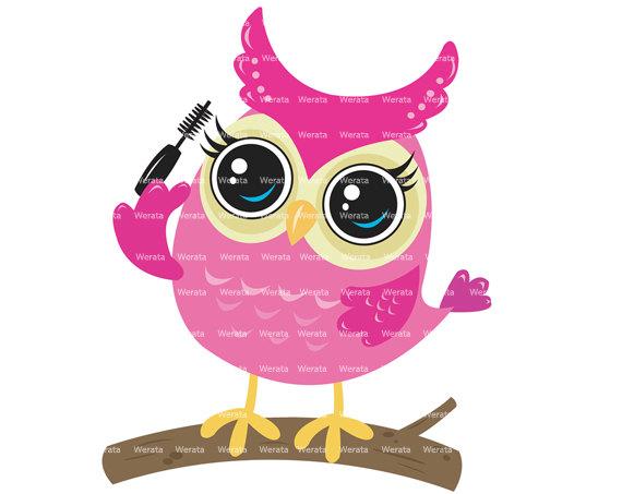 Pink Owl Clip Art - Owl On Branch Clipar-pink owl clip art - owl on branch clipart digital clipart - cute owl Digital Clip-13