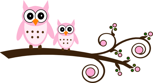Pink Owl On Branch Clip Art At Clker Com-Pink Owl On Branch Clip Art At Clker Com Vector Clip Art Online-17