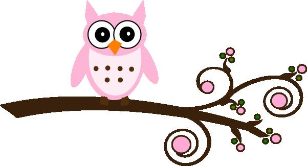 Pink Owl On Branch Clip Art At Clker Com-Pink Owl On Branch Clip Art At Clker Com Vector Clip Art Online-19