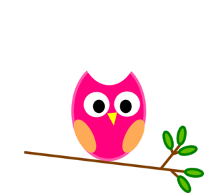 Pink Owl On Branch Clip Art-Pink Owl On Branch Clip Art-14