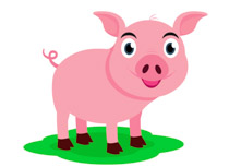 Pink Pig Clipart Size: 59 Kb-Pink Pig Clipart Size: 59 Kb-14