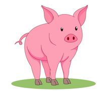 Pink Pig Clipart Size: 59 Kb