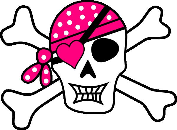 Pink Pirate Cross Bones Clip Art At Clker Com Vector Clip Art Online