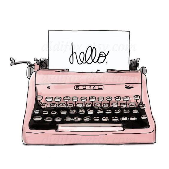 Pink Retro Typewriter, .-Pink Retro Typewriter, .-12