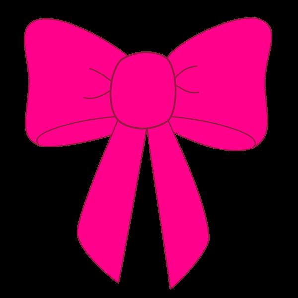 Pink ribbon clip art clipart image