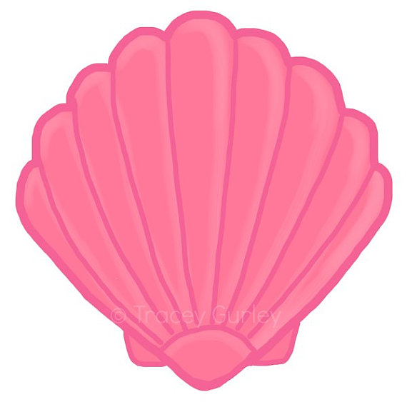 Pink Scallop Seashell Clipart-Pink Scallop Seashell Clipart-11