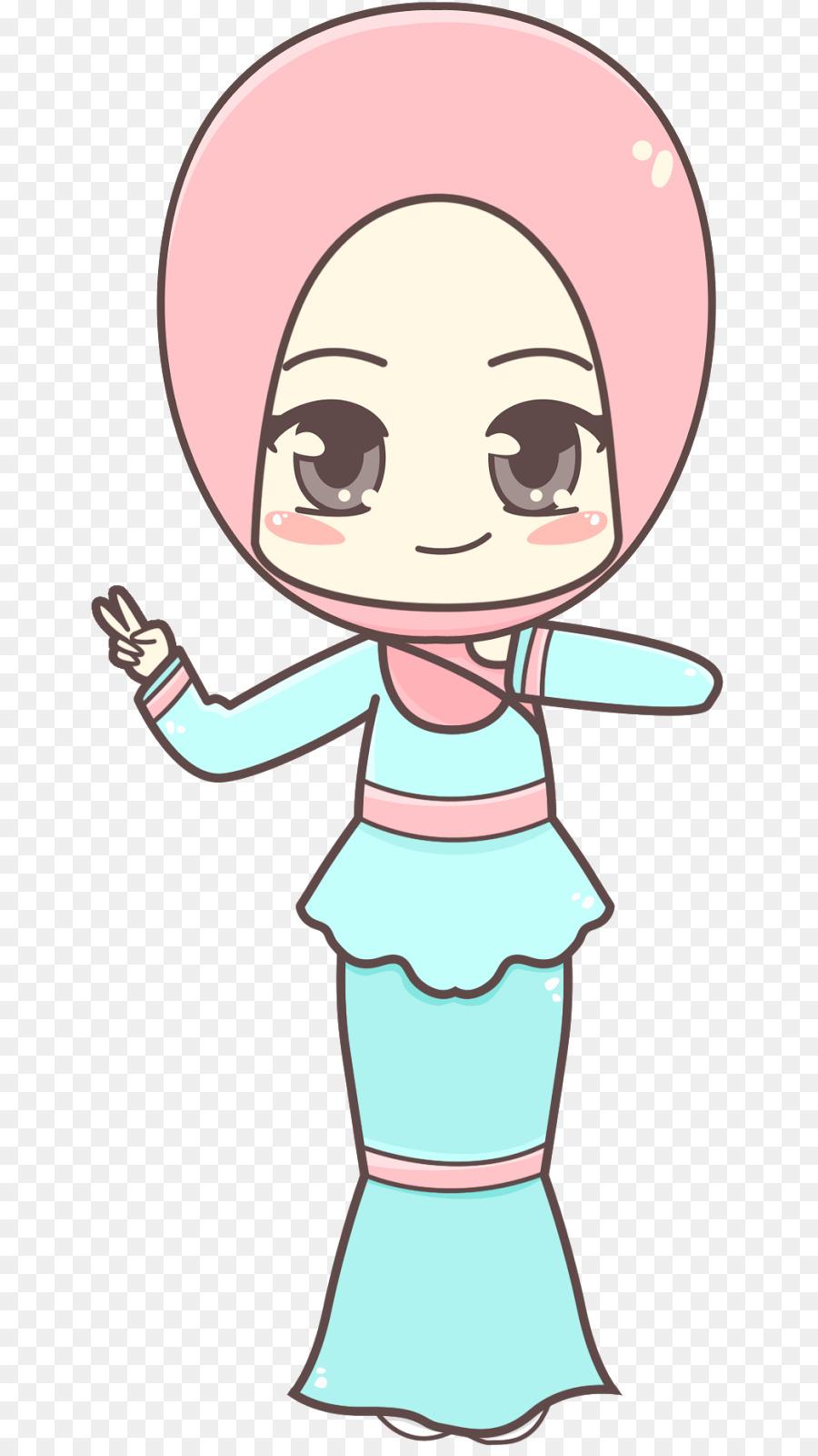 Muslim Islam Kavaii Woman Clip art - pink singer