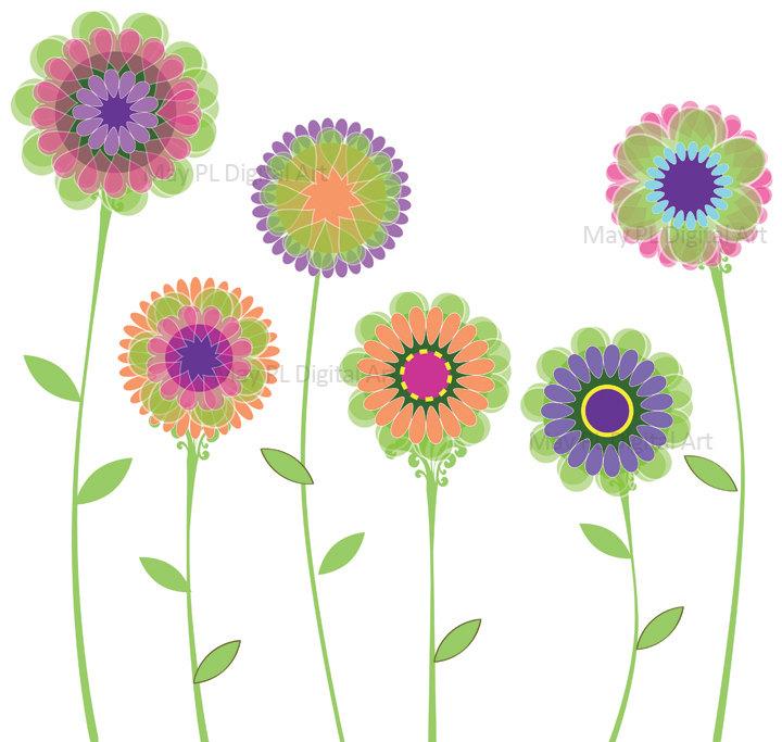 Pink Spring Flowers Clip Art-Pink Spring Flowers Clip Art-14