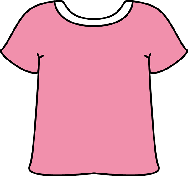 Pink Tshirt with a White Collar