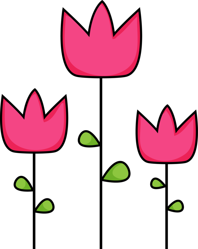 Pink tulip clipart 5