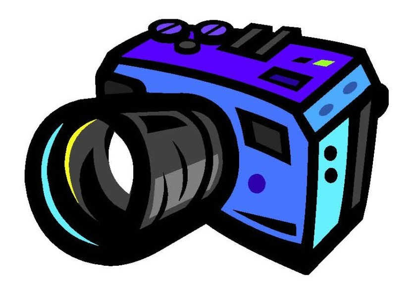 Pink Vintage Camera Clip Art . .