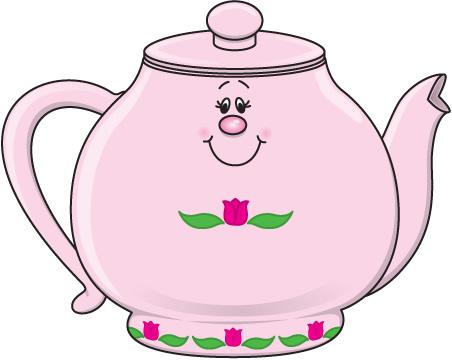 Pink Vintage Teapot Clipart 2-Pink vintage teapot clipart 2-4