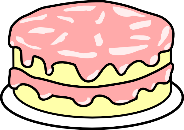 Pink wedding cake clip art free clipart images