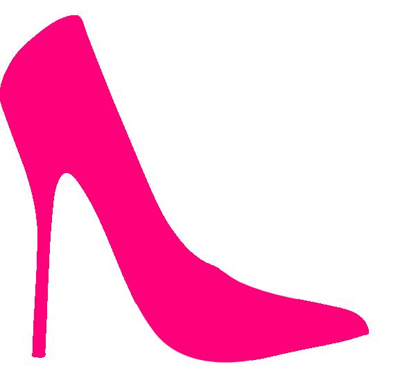 Pink White Heels Clip Art At  - Heels Clipart