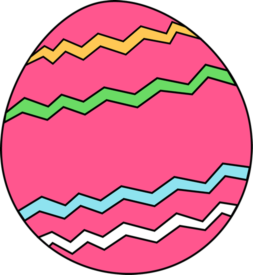 Pink Zig Zag Easter Egg