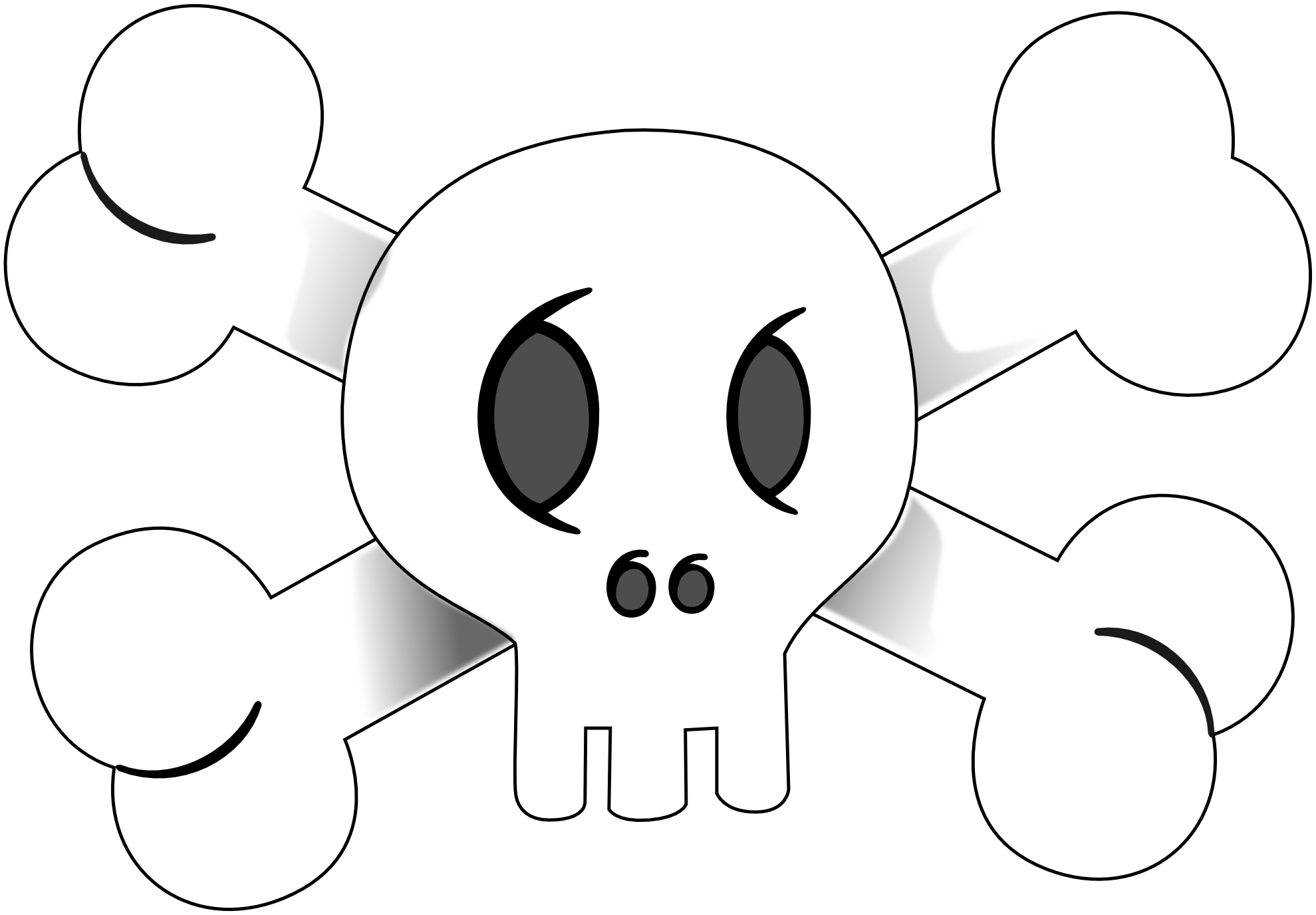 pirate flag clipart black and white