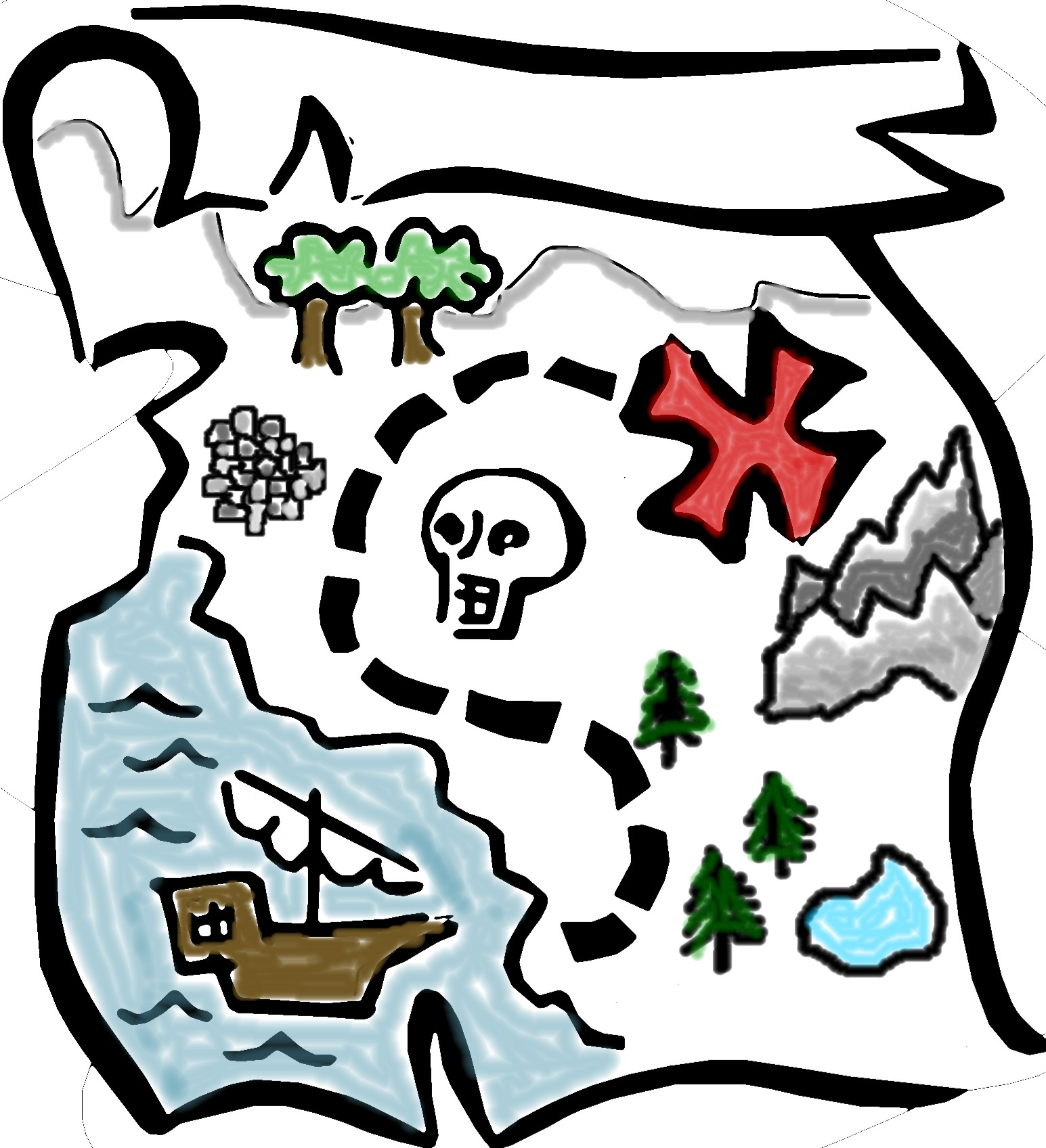 Pirate Treasure Map Clipart-pirate treasure map clipart-8