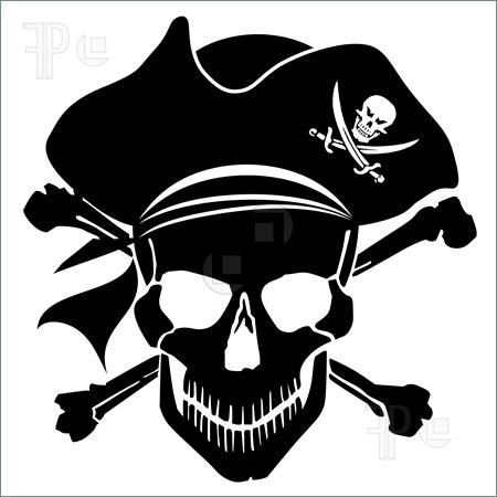 pirate clip art free printable | Illustration of Pirate Skull Captain with  Hat and Cross Bones Clipart ... | pirate | Pinterest | Clip art, Pirates  and Clip ...