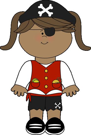 Pirate Girl - Pirate Clip Art Free
