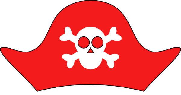 Pirate Hat clip art - vector .-Pirate Hat clip art - vector .-6