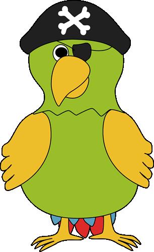 Pirate Parrot - Pirate Clip Art Free
