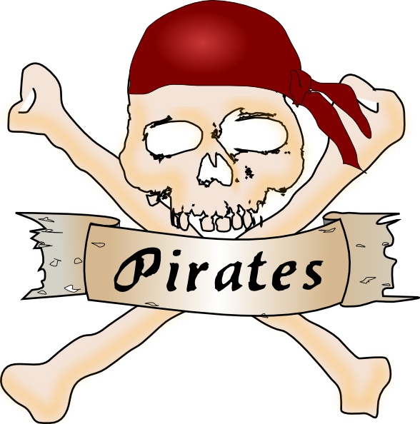 Pirate Skull Clip Art At Clker Com Vector Clip Art Online Royalty