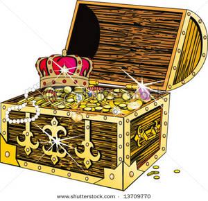 Pirate Treasure Chest Clipart .