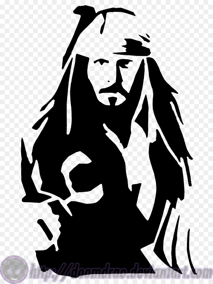 Jack Sparrow Stencil Pirates Of The Cari-Jack Sparrow Stencil Pirates of the Caribbean Clip art - pirate parrot-8