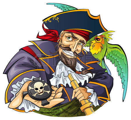 Pirate With Parrot-Pirate with parrot-9