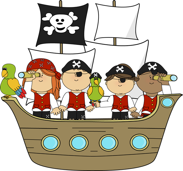 Pirates on Pirate Ship