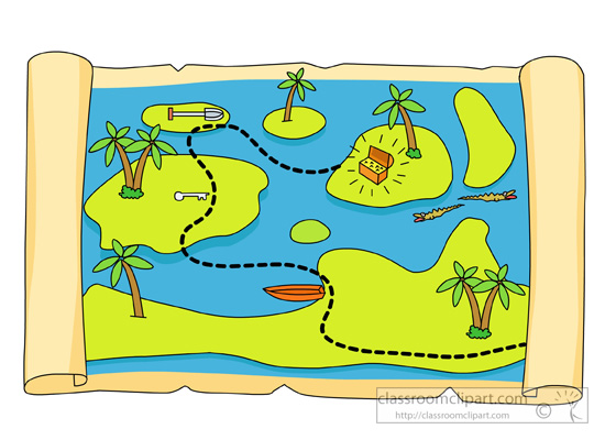 Pirates Treasure Map Clipart Classroom C-Pirates Treasure Map Clipart Classroom Clipart-11